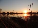 Mokoro im Sonnenuntergang